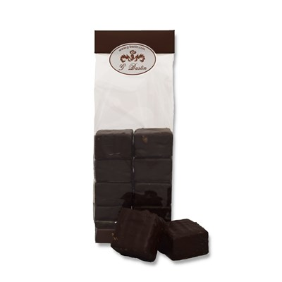 Little bag dark chocolate covered marshmellows